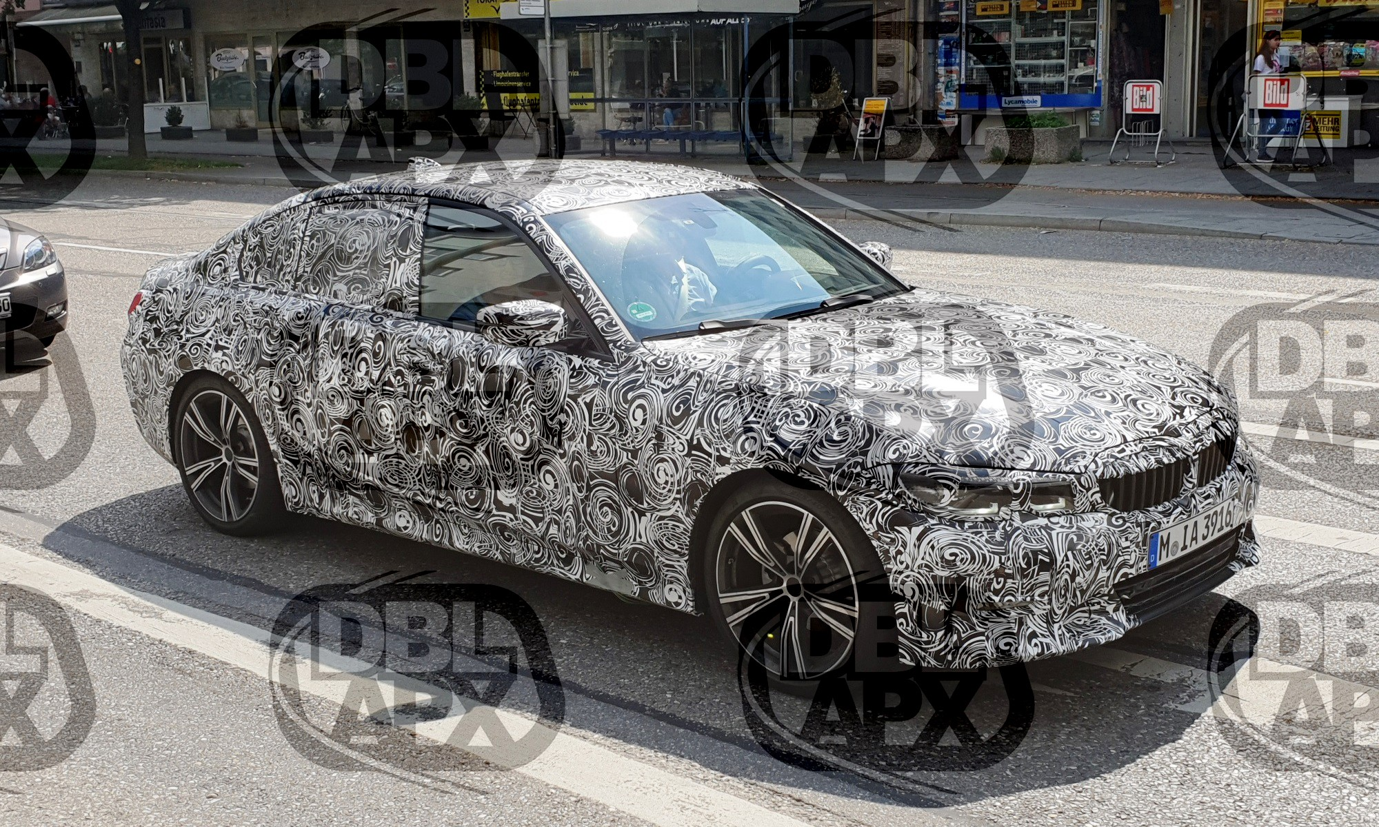 You can see the headlamp design of the new BMW 3 Series is similar to the 5 Series