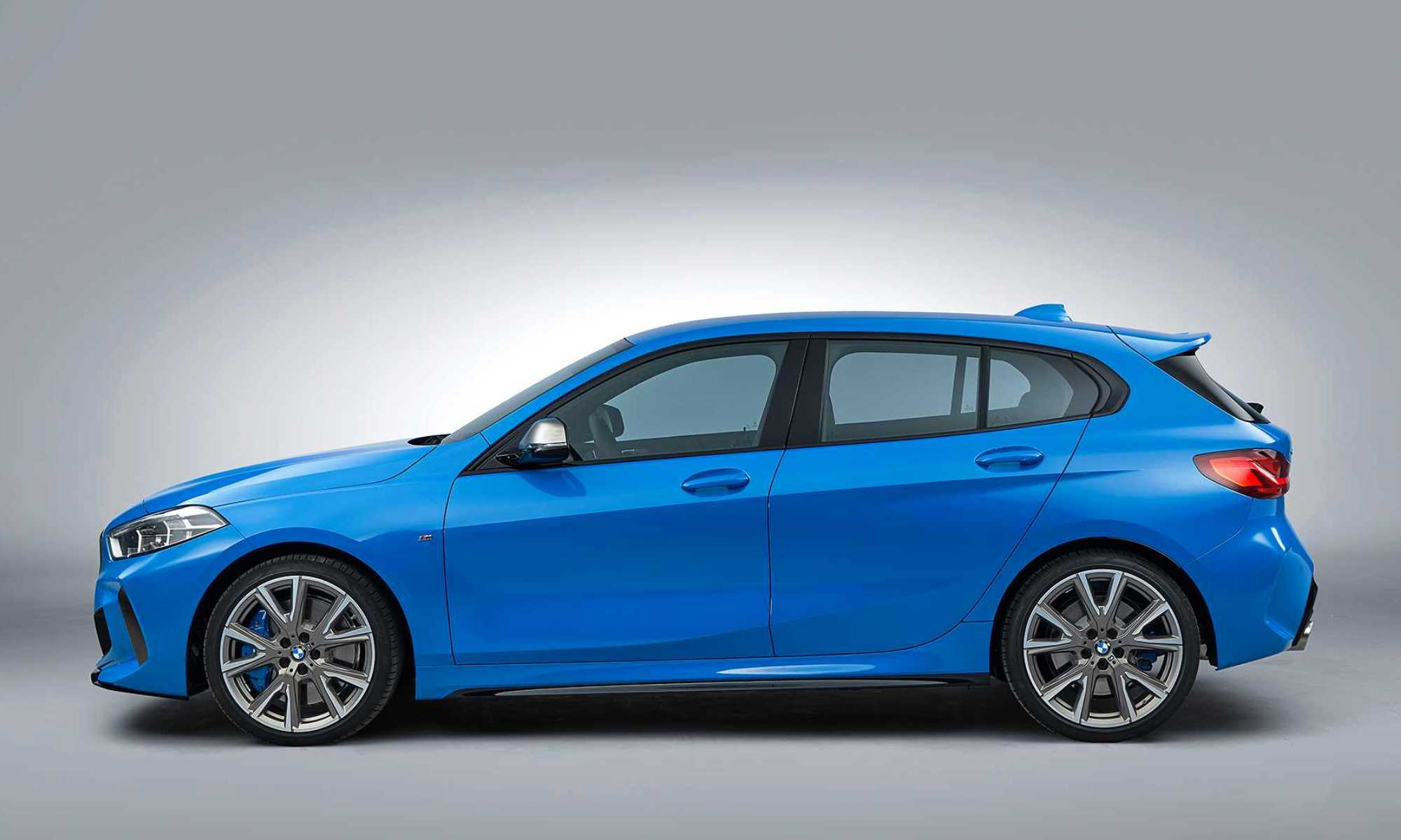 BMW M135i hatchback profile