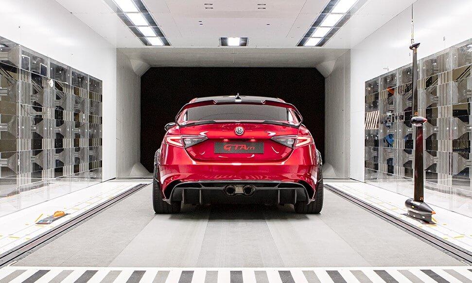 Alfa Romeo Giulia GTA Testing in wind tunnel