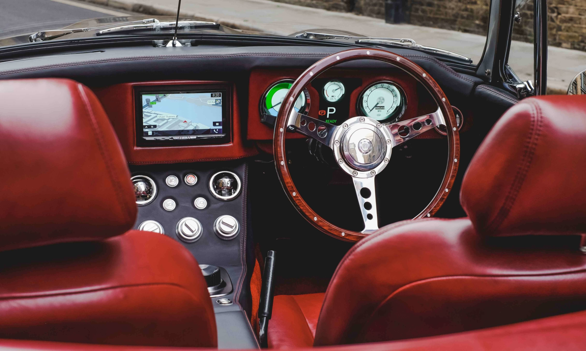 Electric MGB Roadster interior
