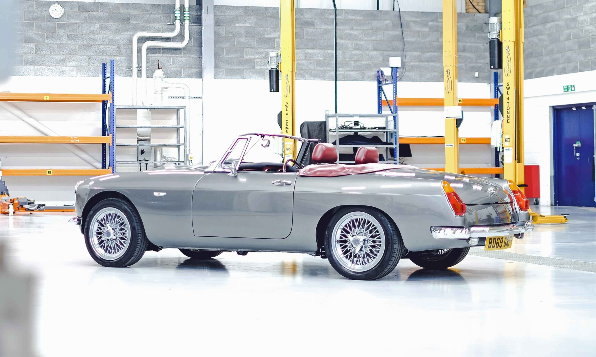 Electric MGB Roadster rear