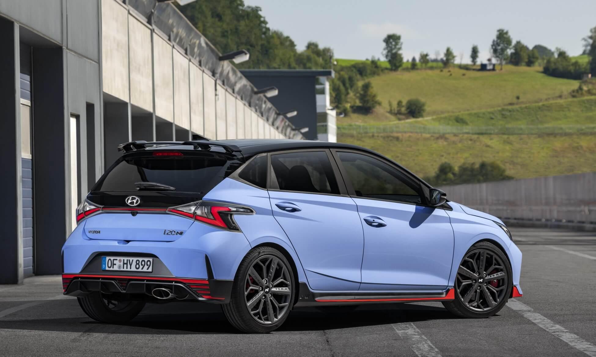 Hyundai i20N rear