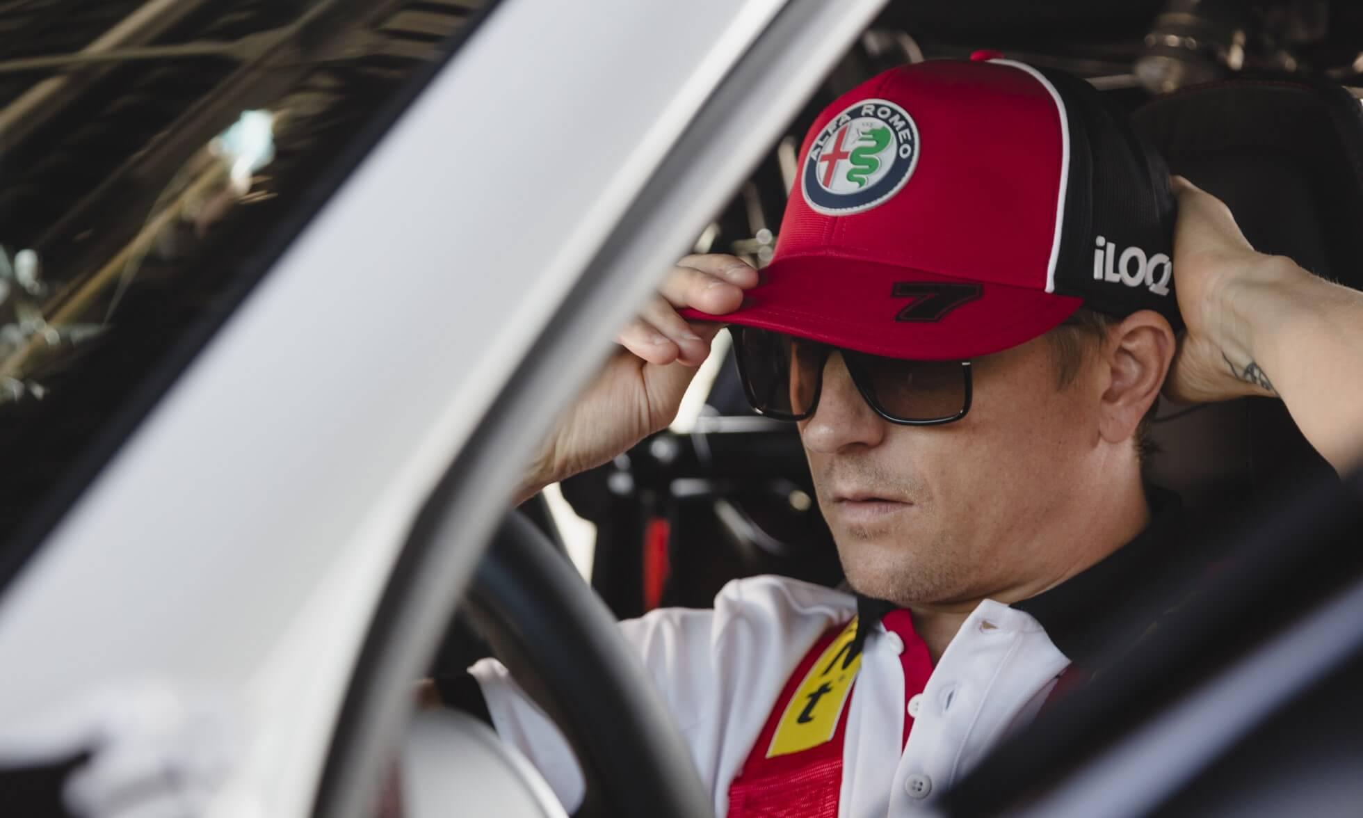 Kimi Raikkonene Alfa Romeo Giulia GTA Testing