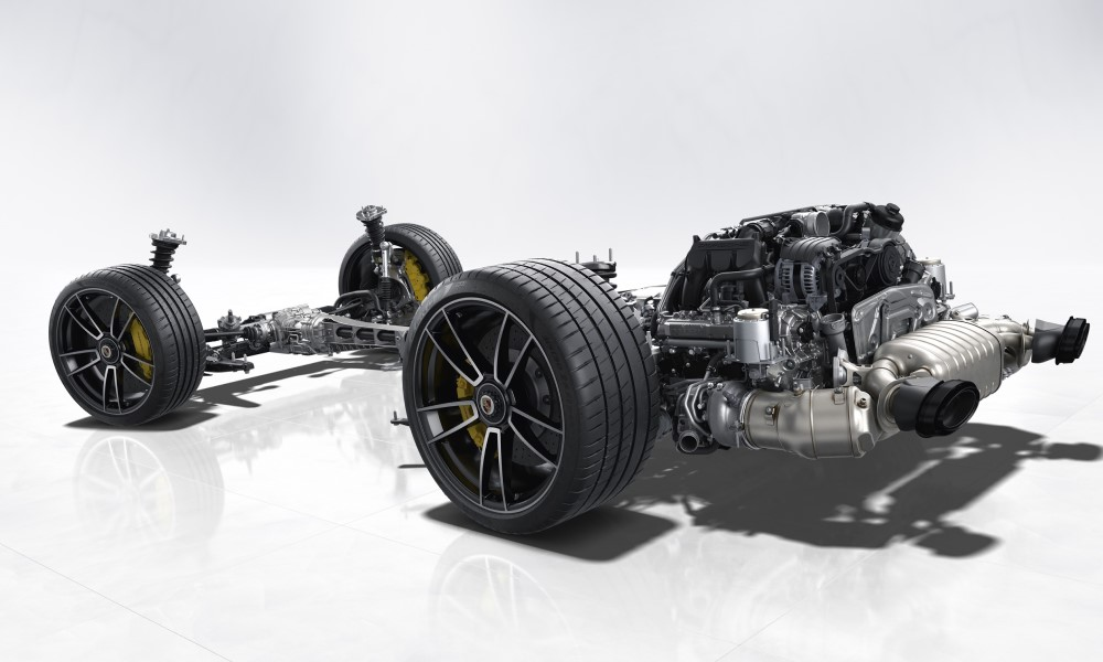 Porsche 911 Turbo S powertrain