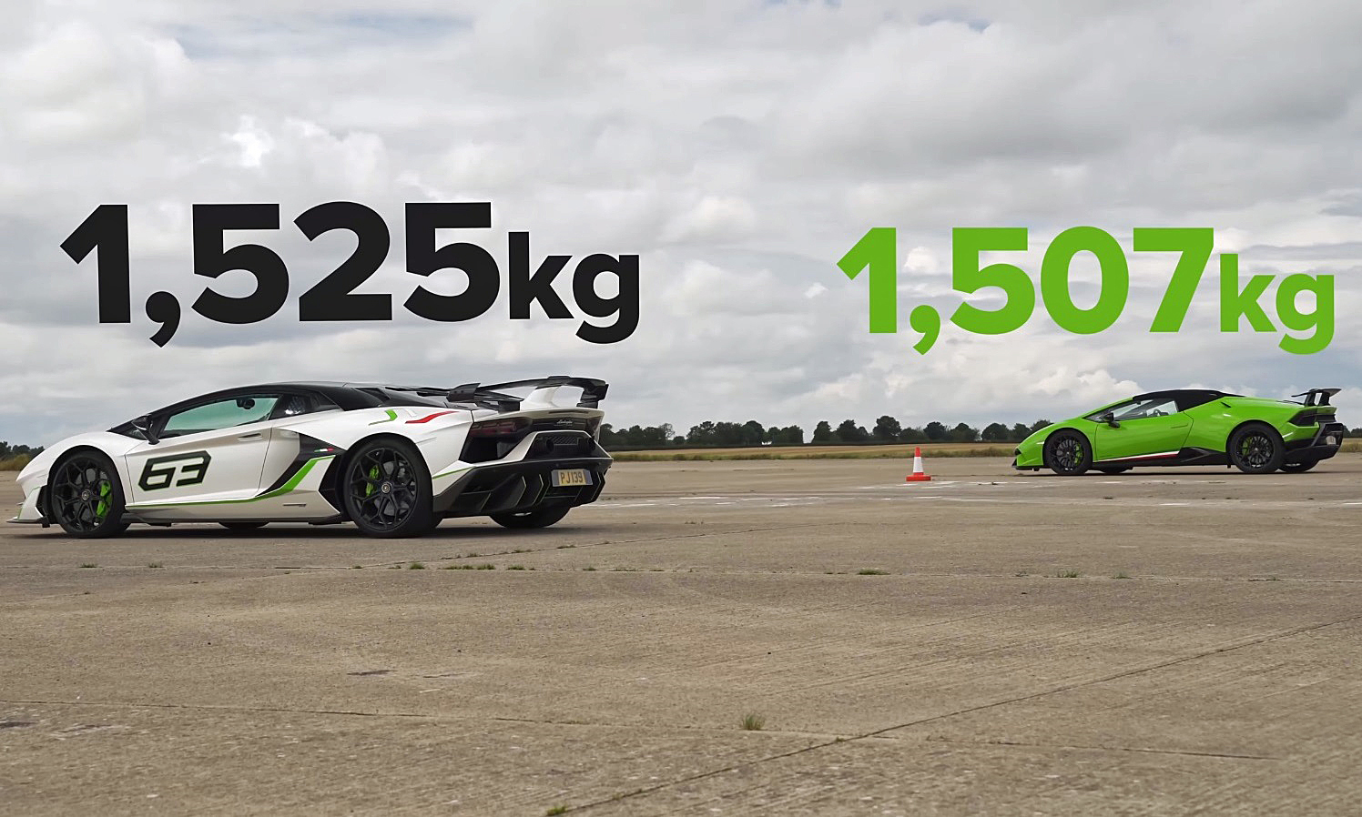 Performance Lamborghini Drag Race rear