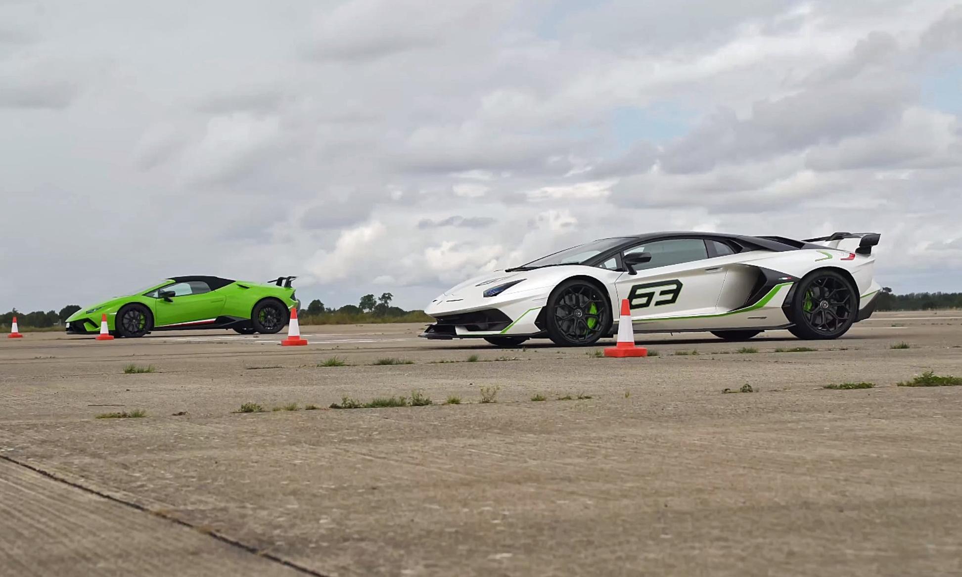 Performance Lamborghini Drag Race