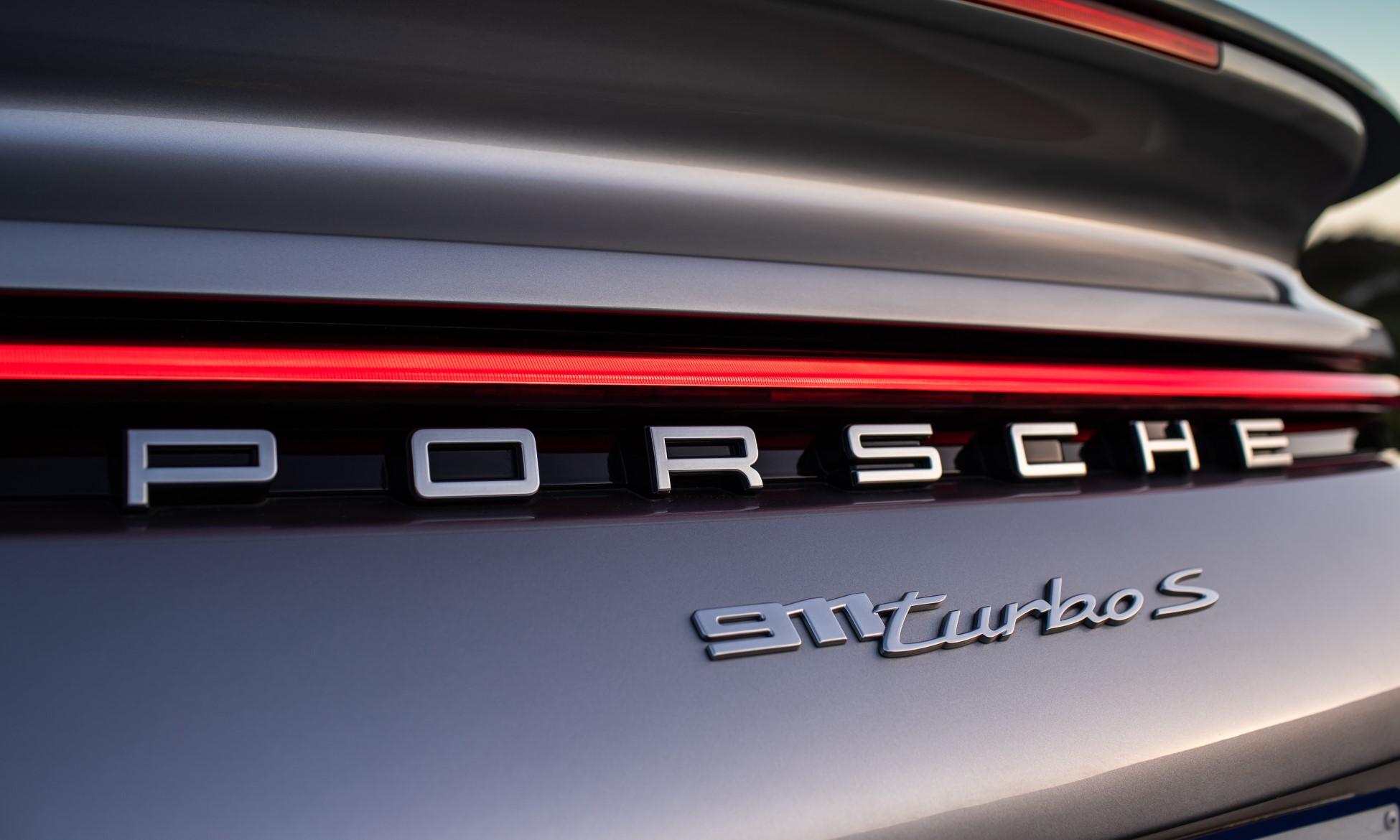 Porsche 911 Turbo S badge