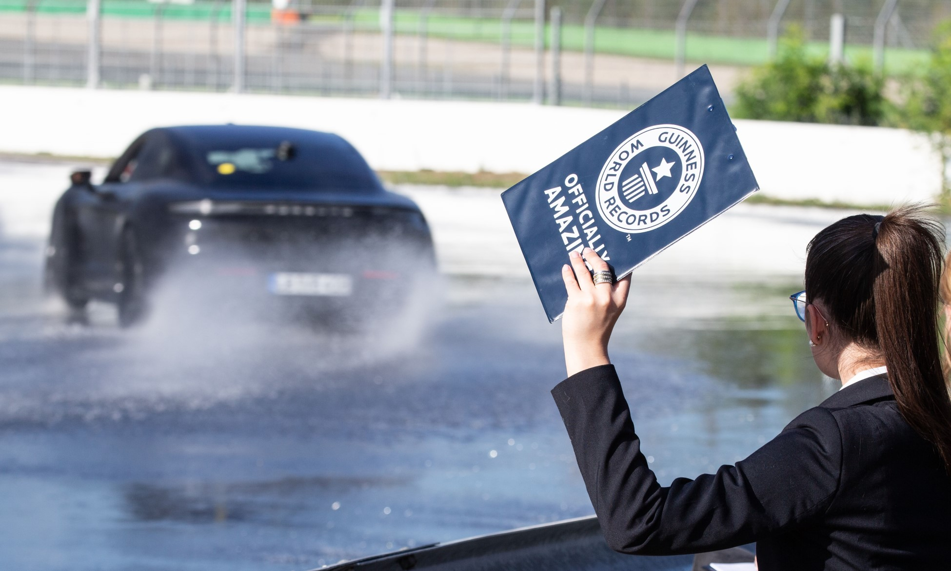 Taycan Sets Drift Record as witness by Guiness