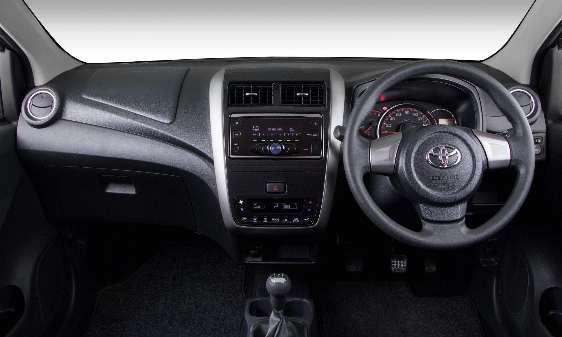 Toyota Agya hatchback interior