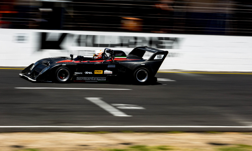 The Chevron of Silvio Scribante at full speed down the Killarney Raceway main straight. Franco Scribante Racing claimed overall victory at the SA 9 Hour with 347 laps completed covering over 1 133 km in the process.