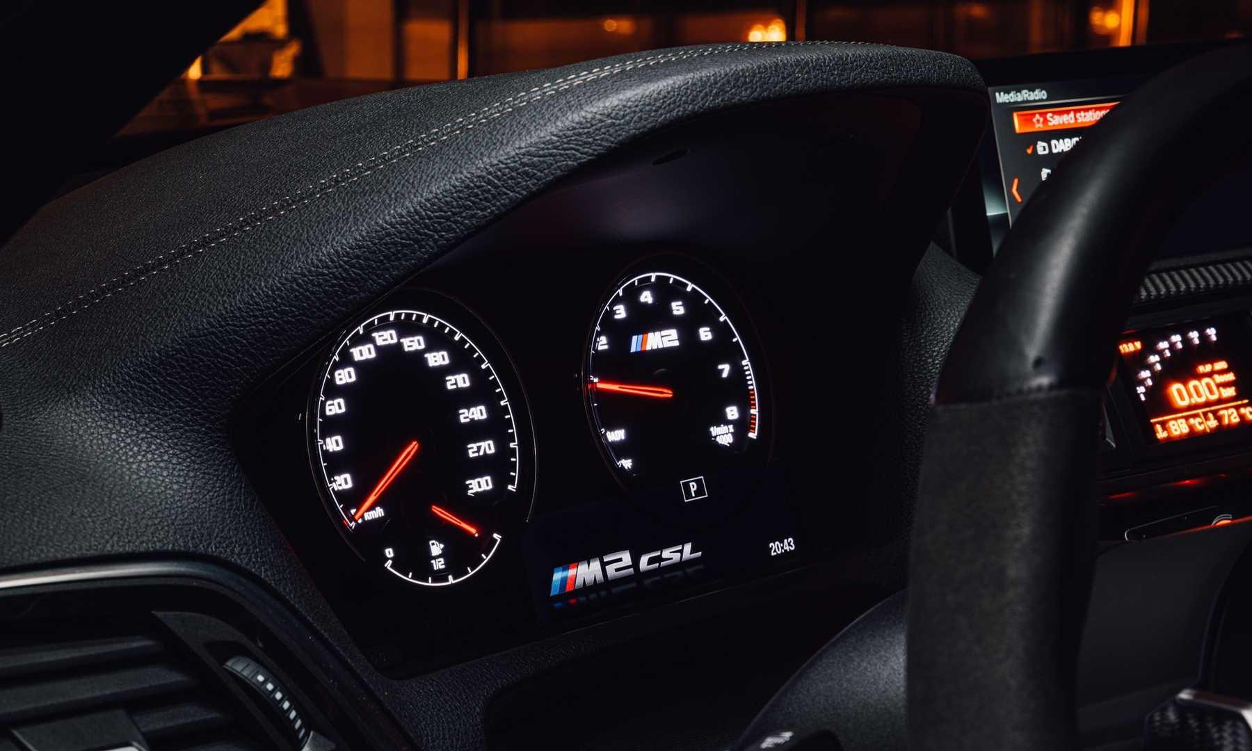 BMW M2 CSL Turbomeister dials