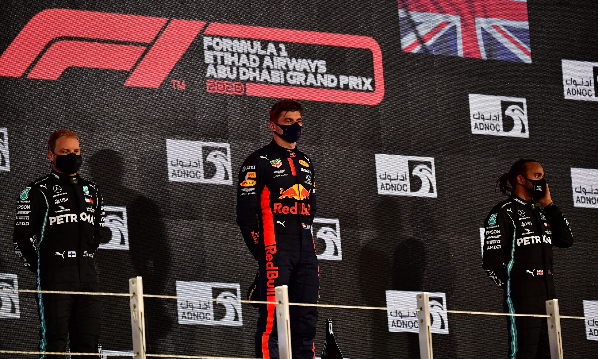 F1 Review Abu Dhabi 2020 podium
