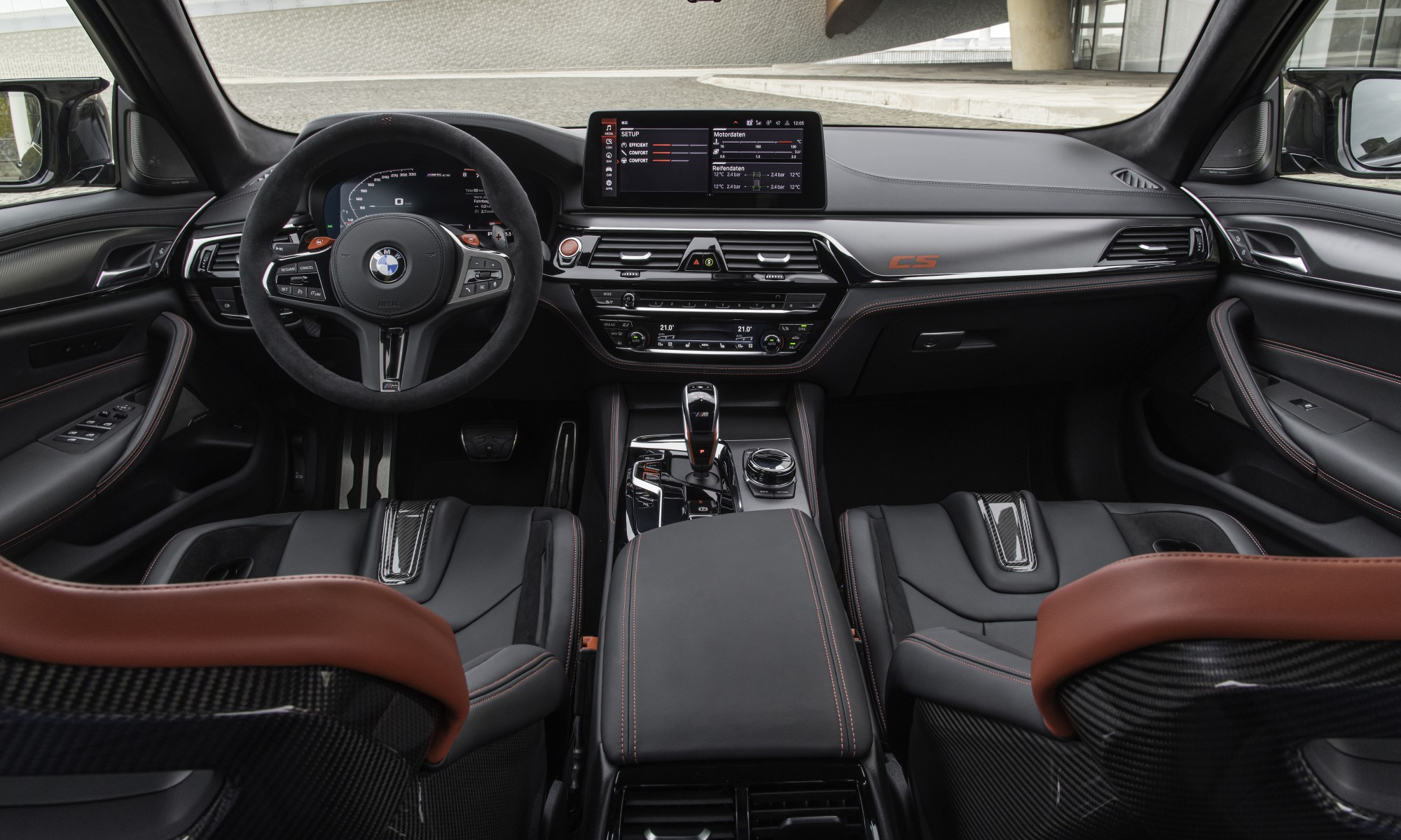 First-Ever BMW M5 CS cabin