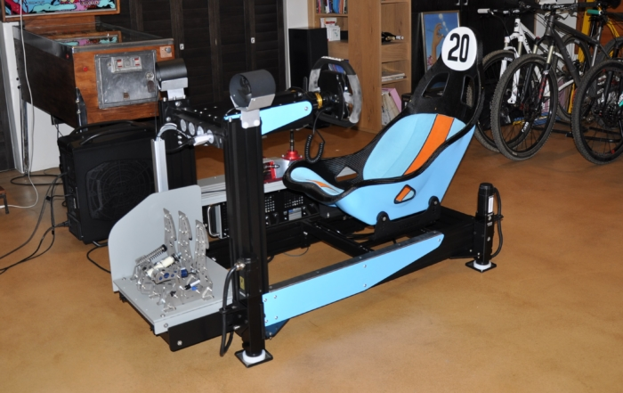 The sim racing motion rig uses Oculus Virtual Reality for the next best thing next to real racing.