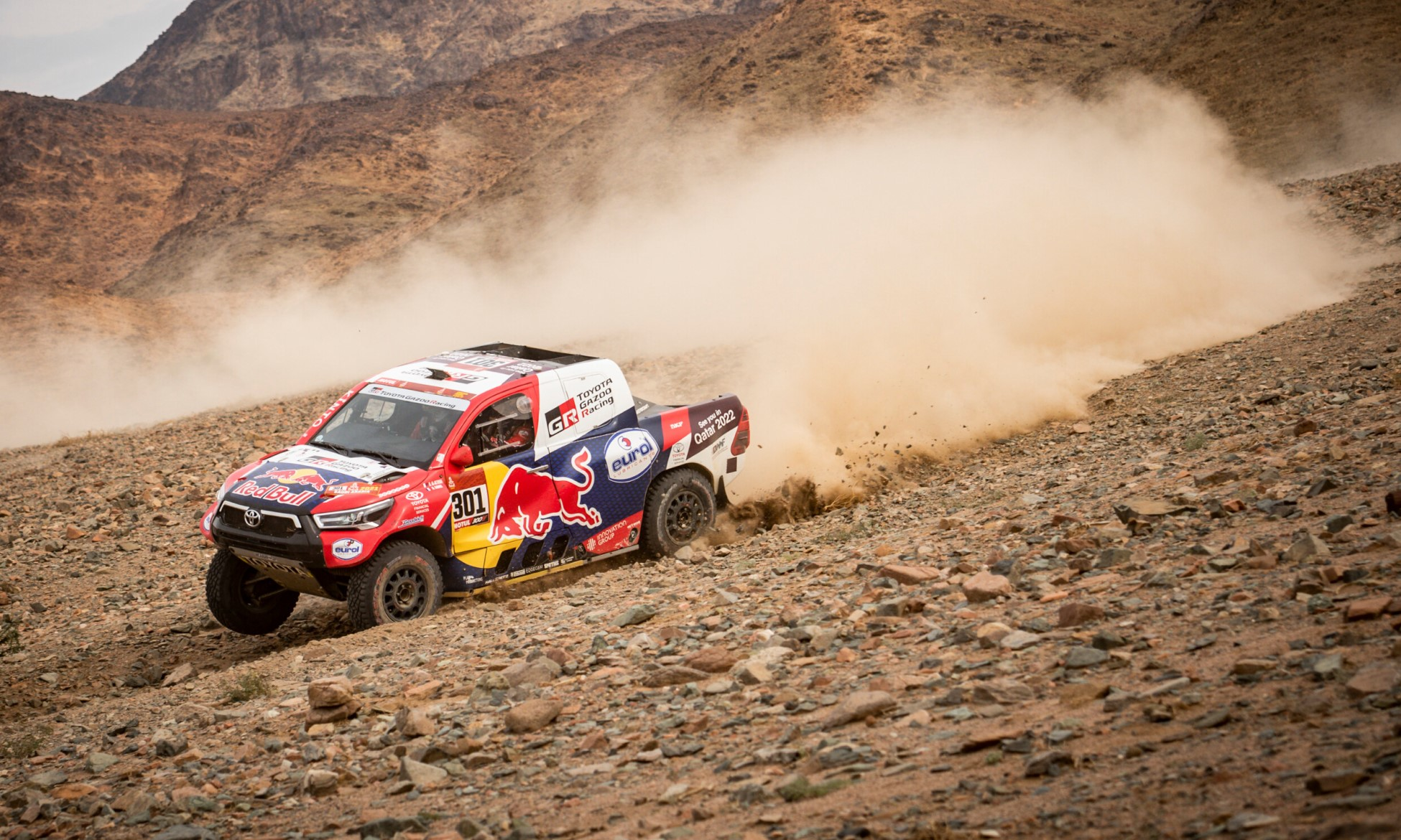 Nasser Al-Attiyah pushed hard on 2021 Dakar Stage 11