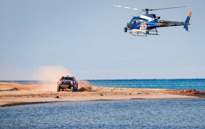 Nasser Al-Attiyah pushed hard on 2021 Dakar Stage 9 (Image F.Le Floch DPPI)