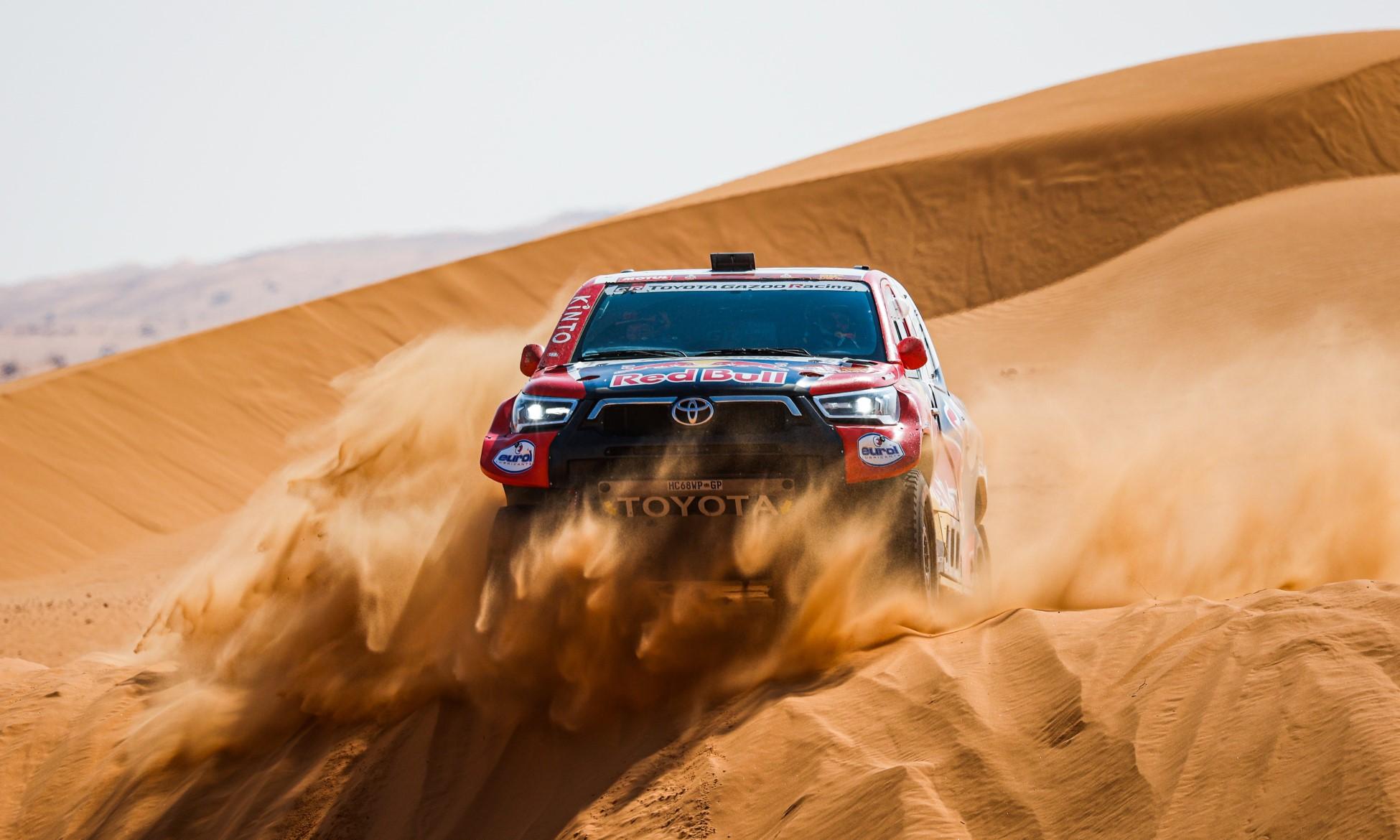 Nasser Al-Attiyah took time out of the race leader on 2021 Dakar Stage 6 (Image F.Gooden DPPI)
