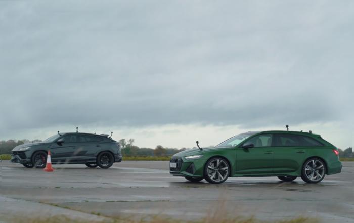 Lamborghini Urus vs Audi RS6 Drag Race