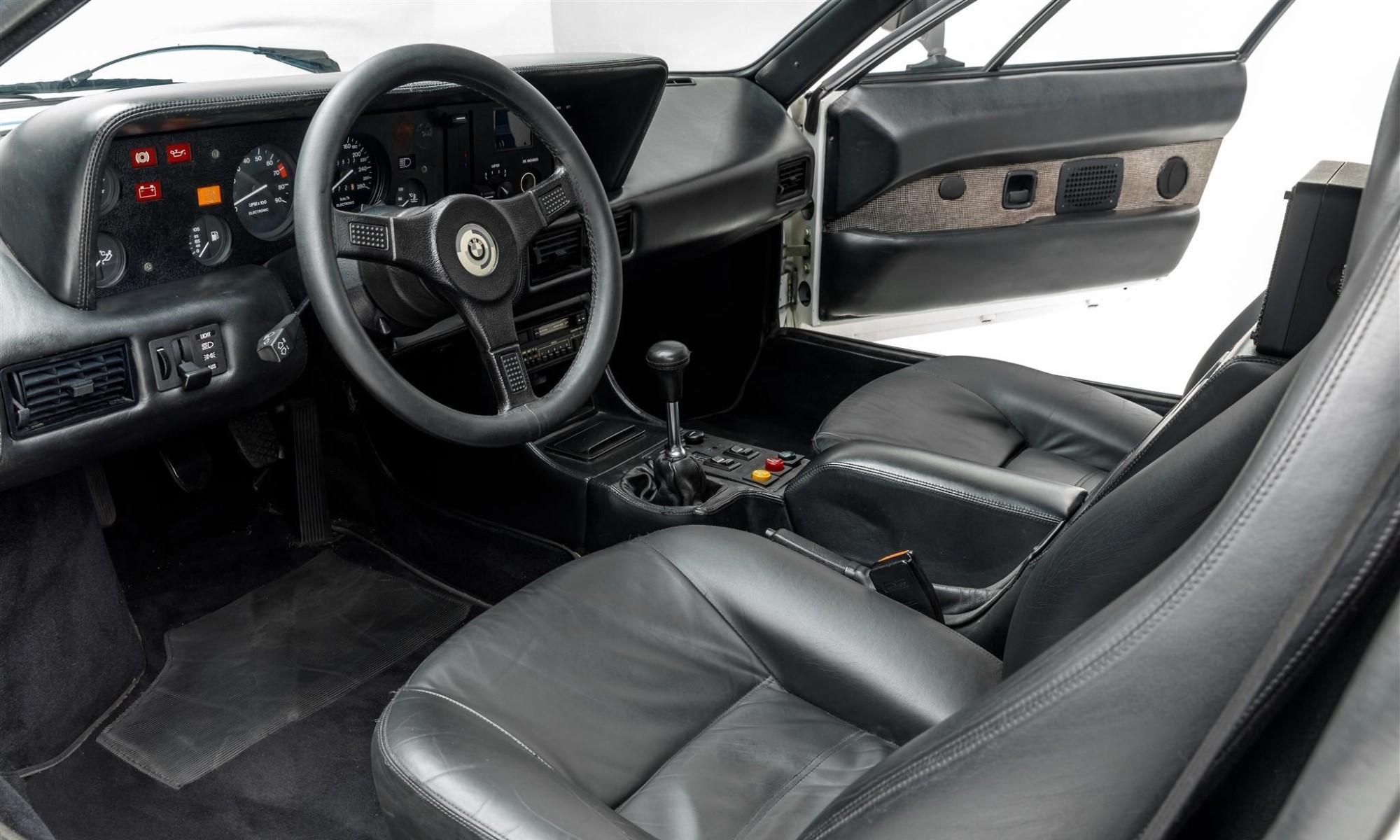 Paul Walker BMW M1 interior