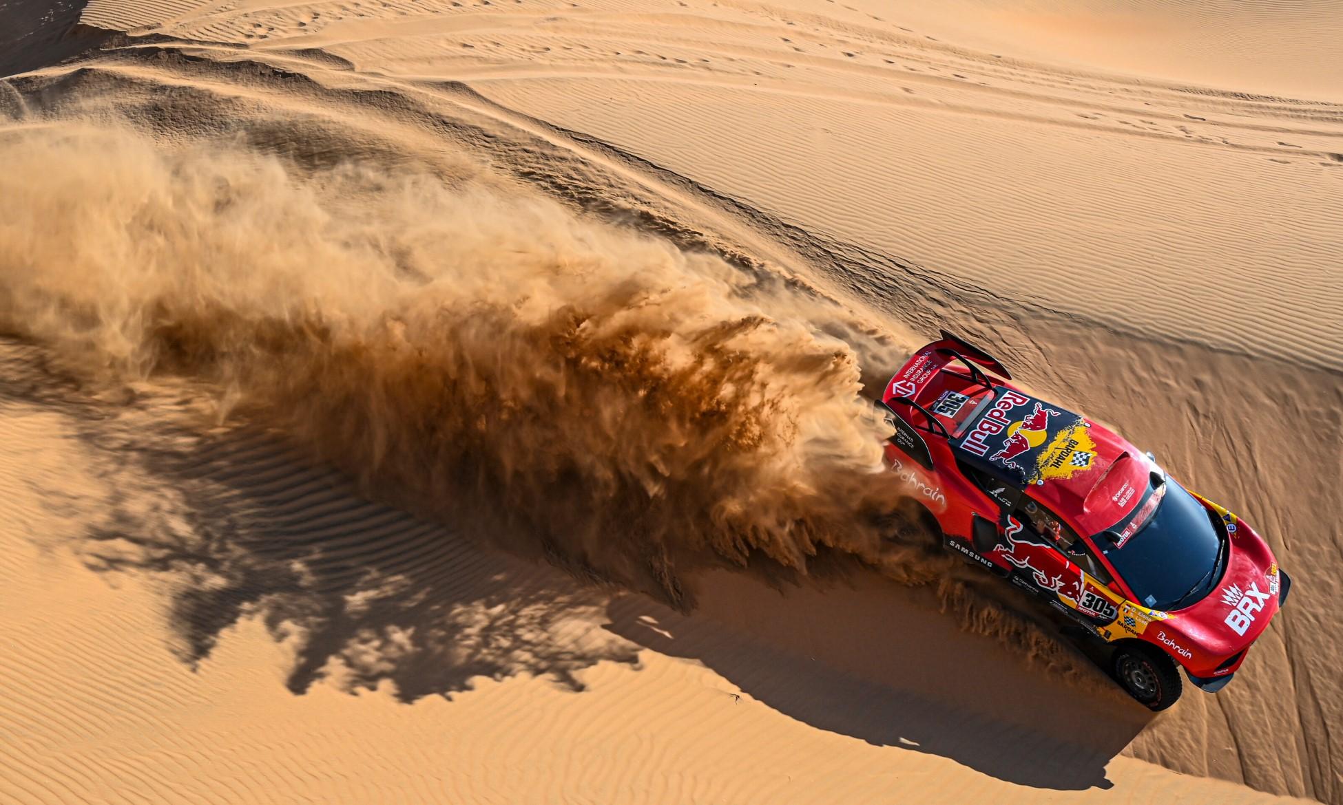 Sebastien Loeb on 2021 Dakar Stage 3