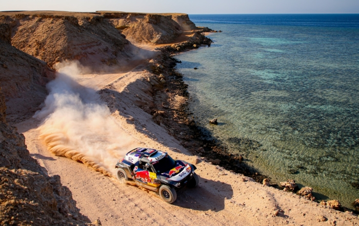 Stephane Peterhansel extended his overall lead on 2021 Dakar Stage 9 (Image J.Delfosse DPPI)