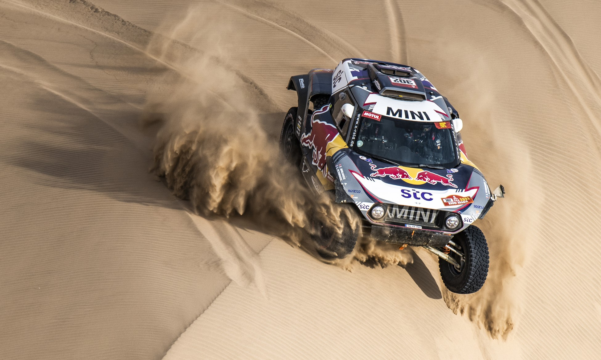 Stephane Peterhansel in action during 2021 Dakar Stage 12 (Image C.Lopez ASO)