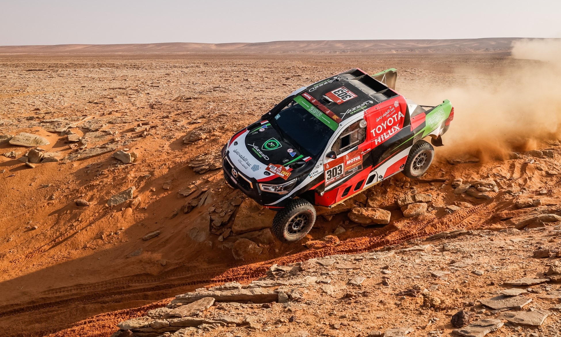 Yazeed Al-Rajhi had an excellent run on 2021 Dakar Stage 10 (Image A.S.O. F.Le Floch DPPI)