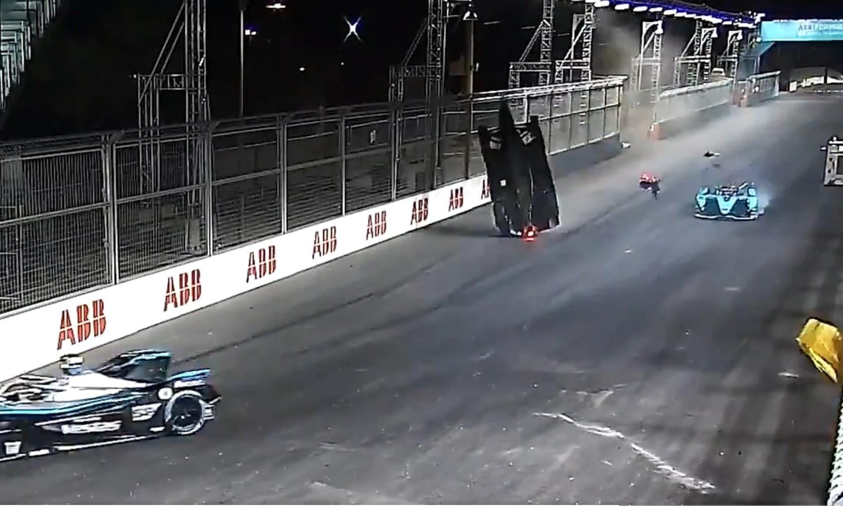 Alex Lynn Formula E Crash 1