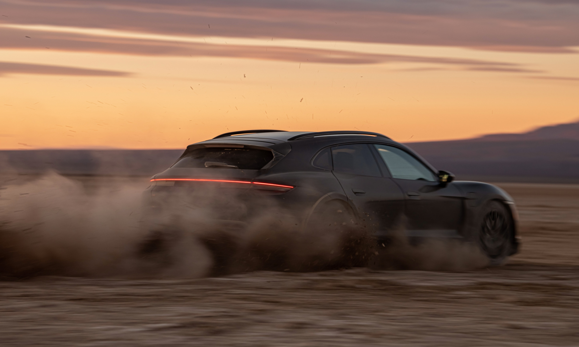 Porsche Taycan Cross Turismo Testing rear