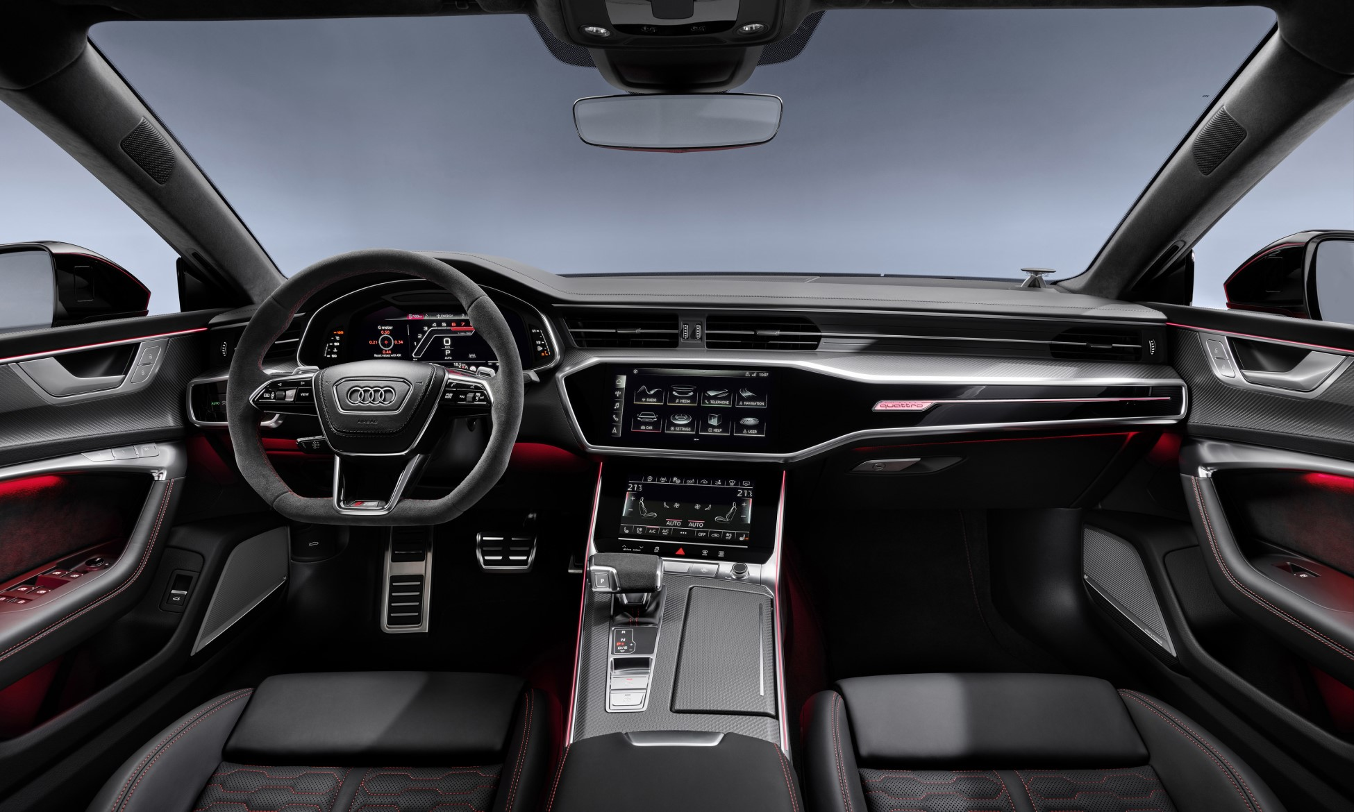 Audi RS6 Avant and RS7 Sportback interior
