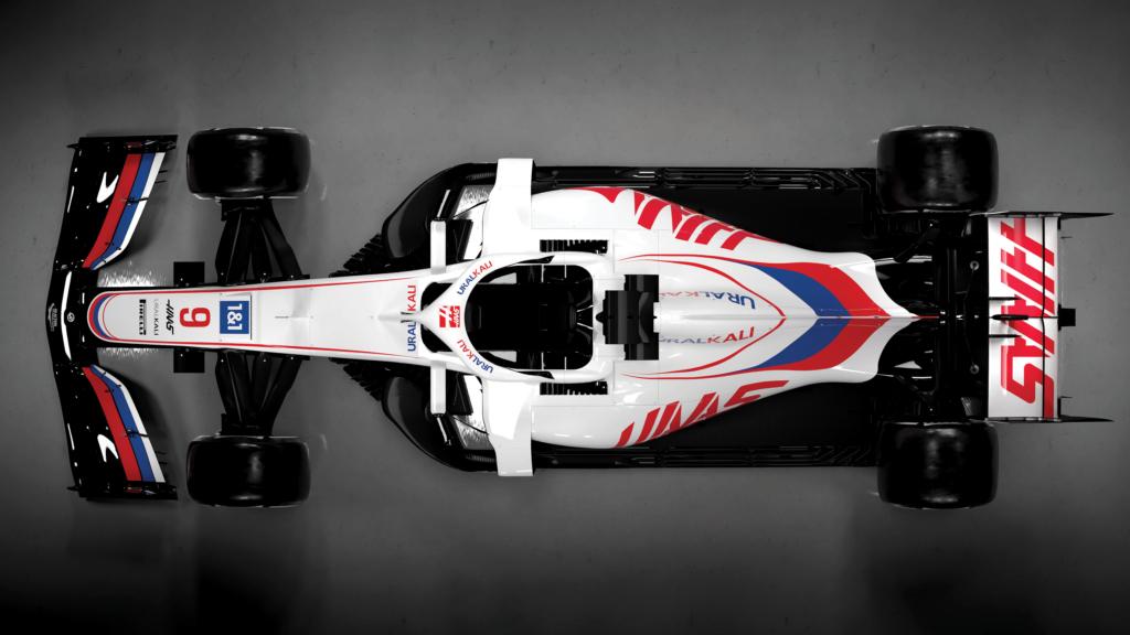 Haas F1 VF-21 overhead