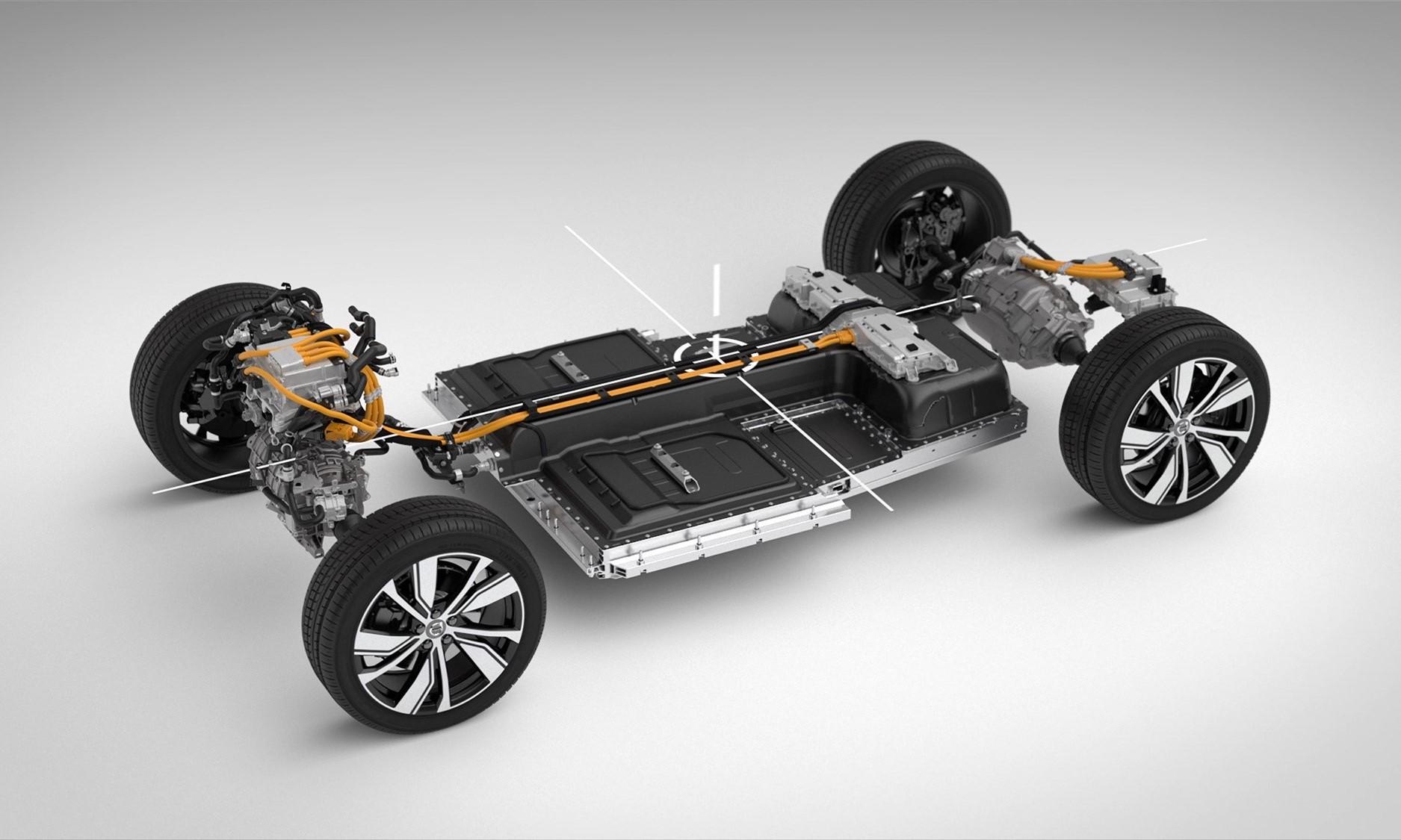 Volvo XC40 Recharge drivetrain