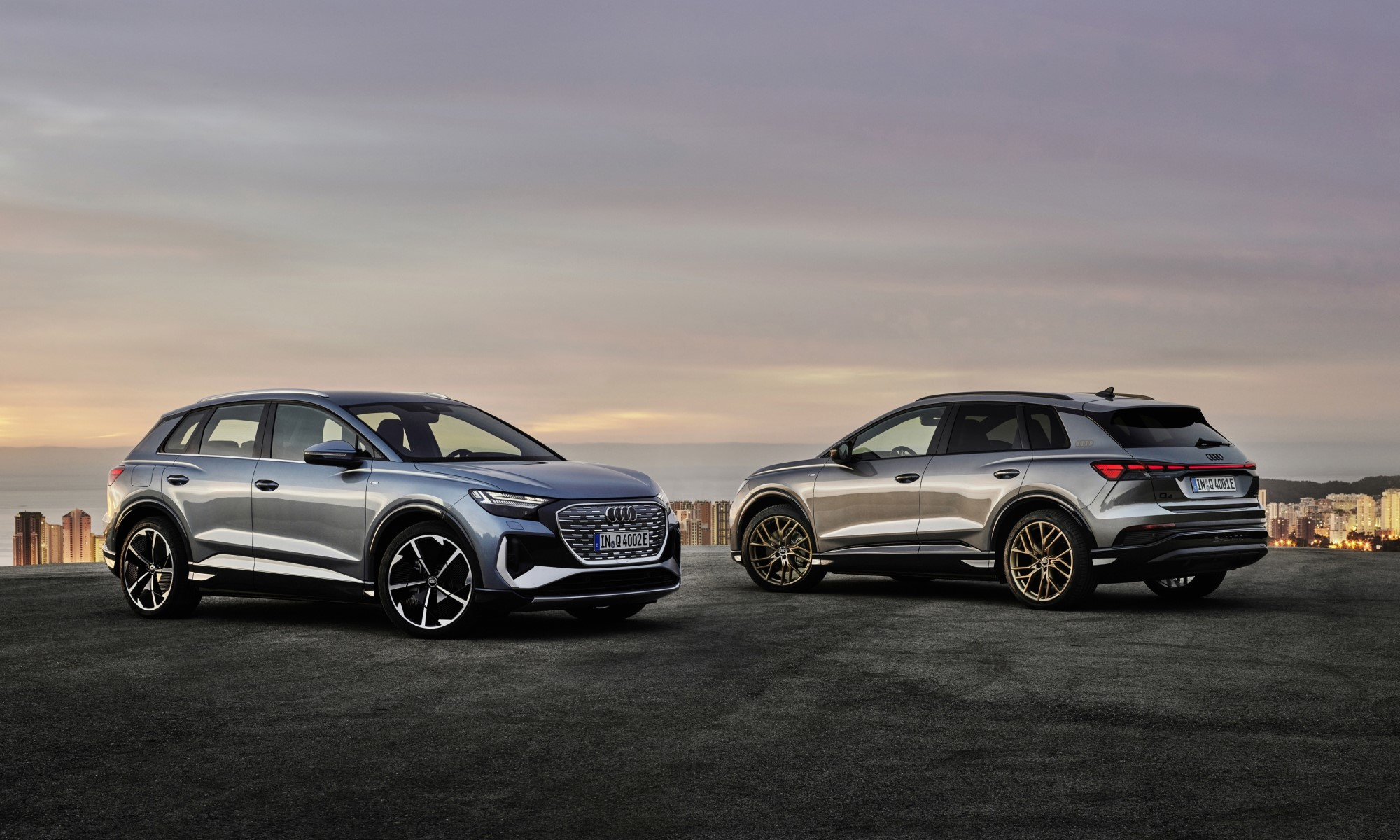 Audi Q4 E-Tron front and rear