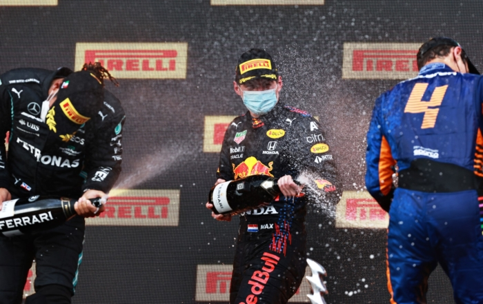 F1 Review Emilia Romagna 2021 podium