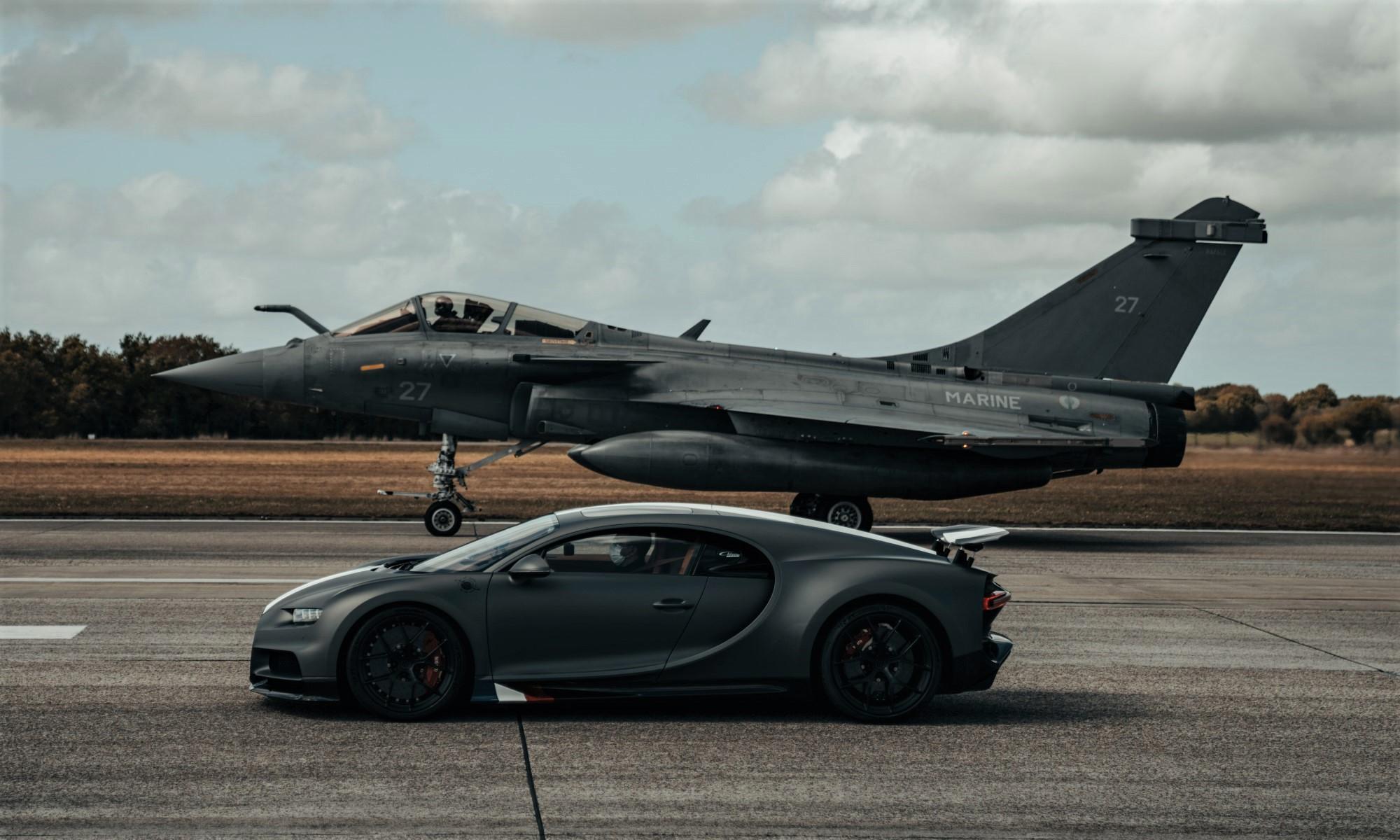 Bugatti Chiron Races Fighter Jet profile