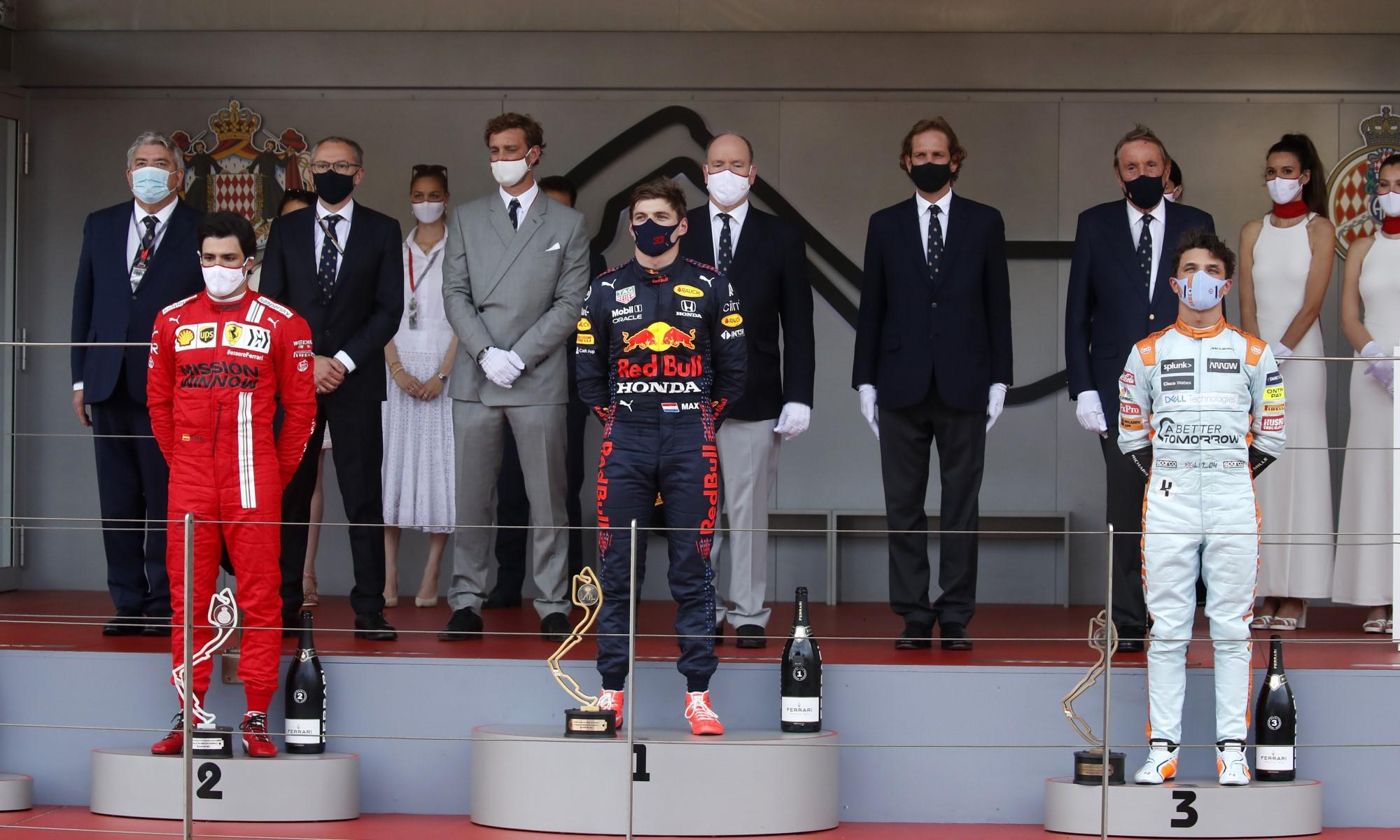 F1 Review Monaco 2021 podium