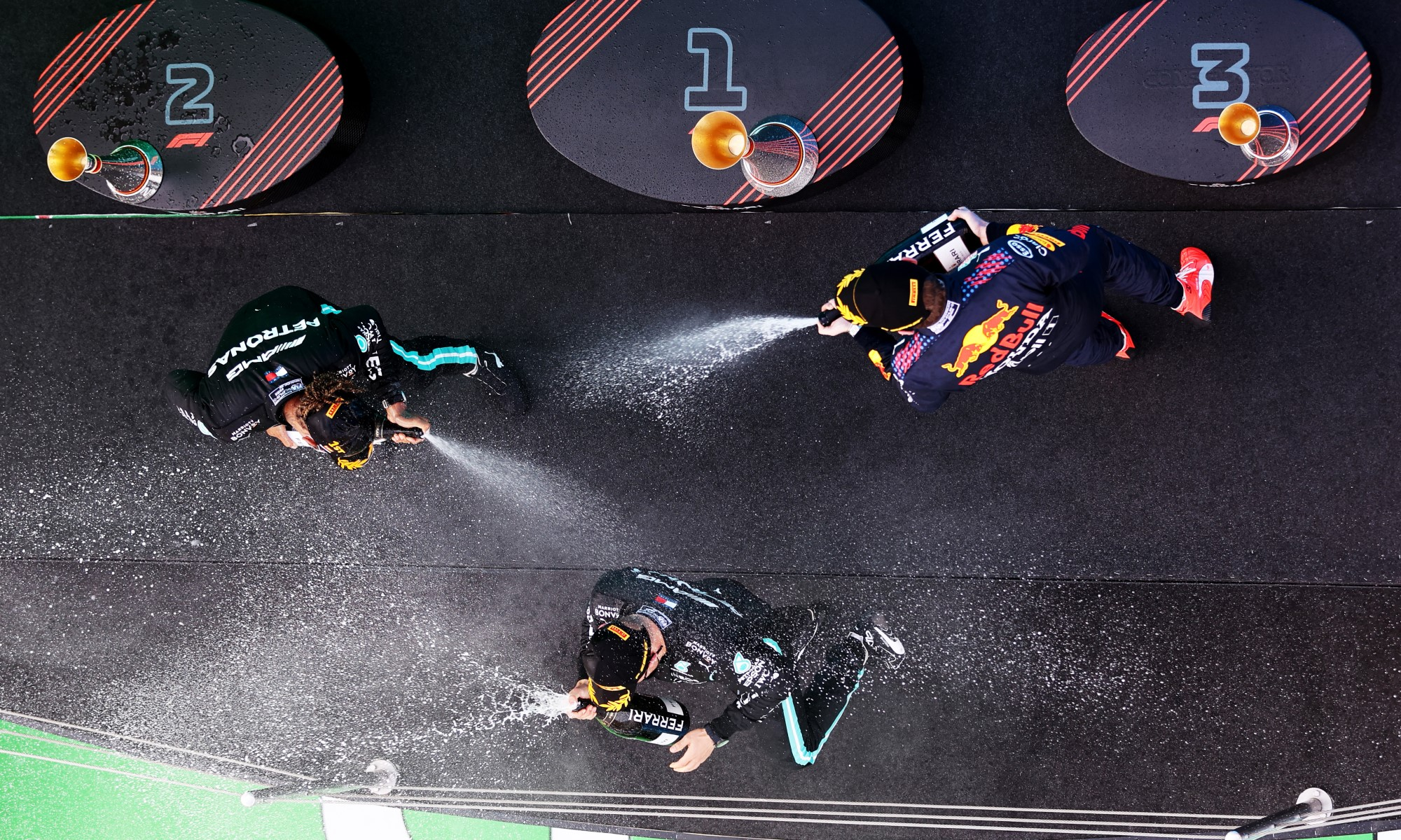 F1 Review Spain 2021 champagne