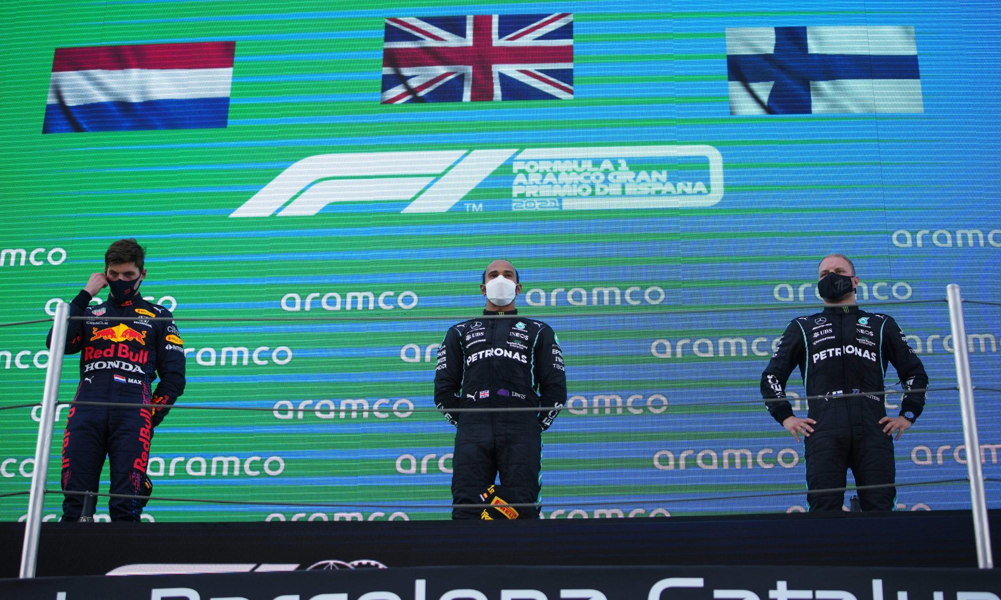 F1 Review Spain 2021 podium
