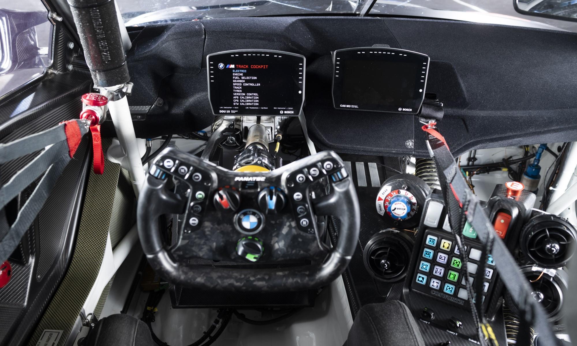 BMW M4 GT3 cockpit