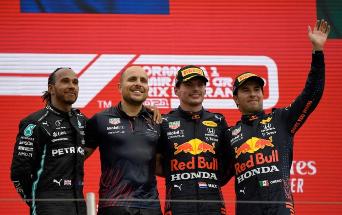 F1 Review France 2021 podium