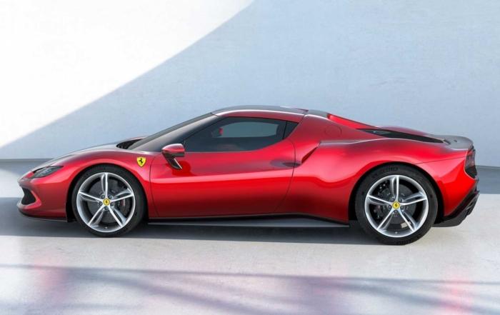 Ferrari 296 GTB side
