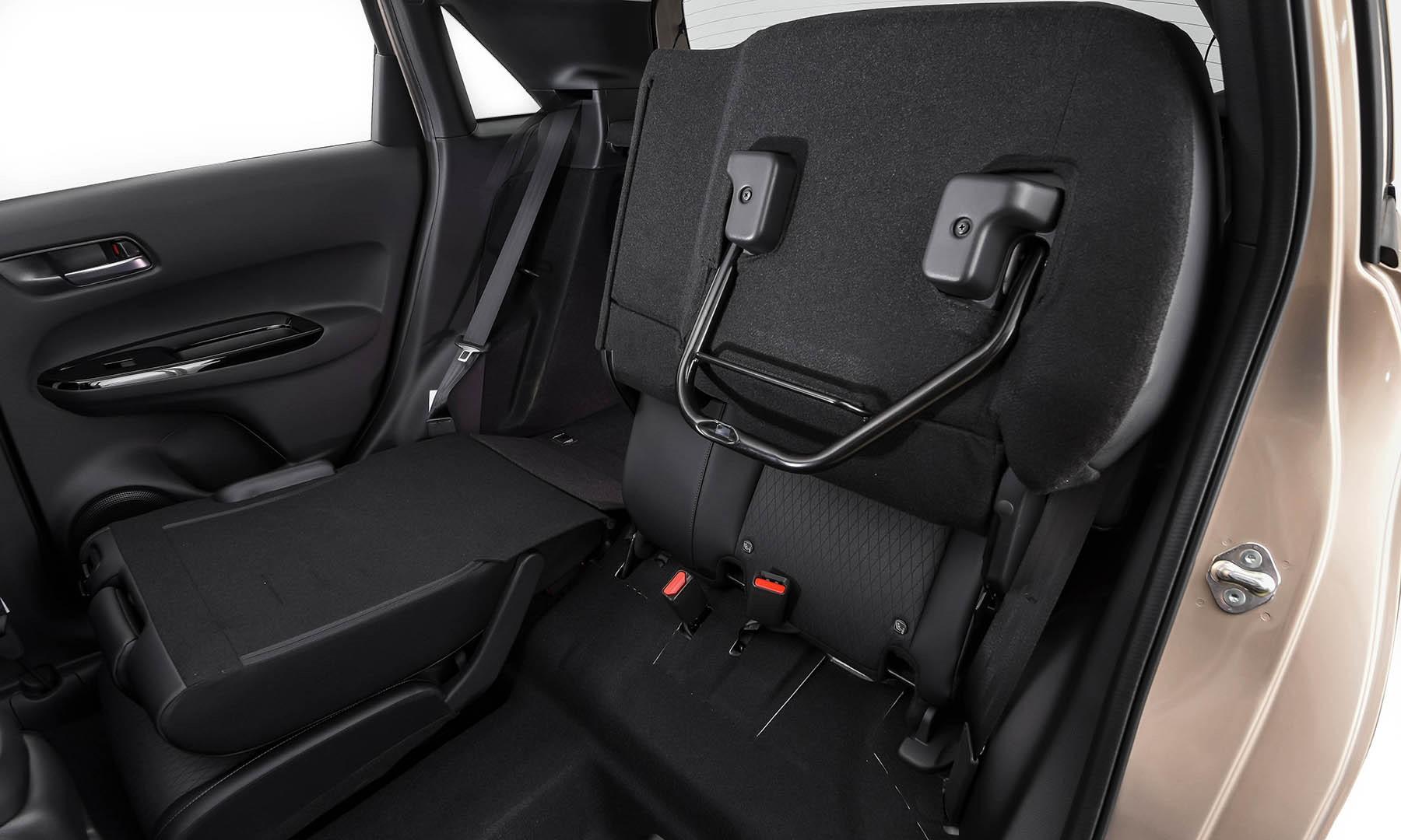 Honda Fit rear seats