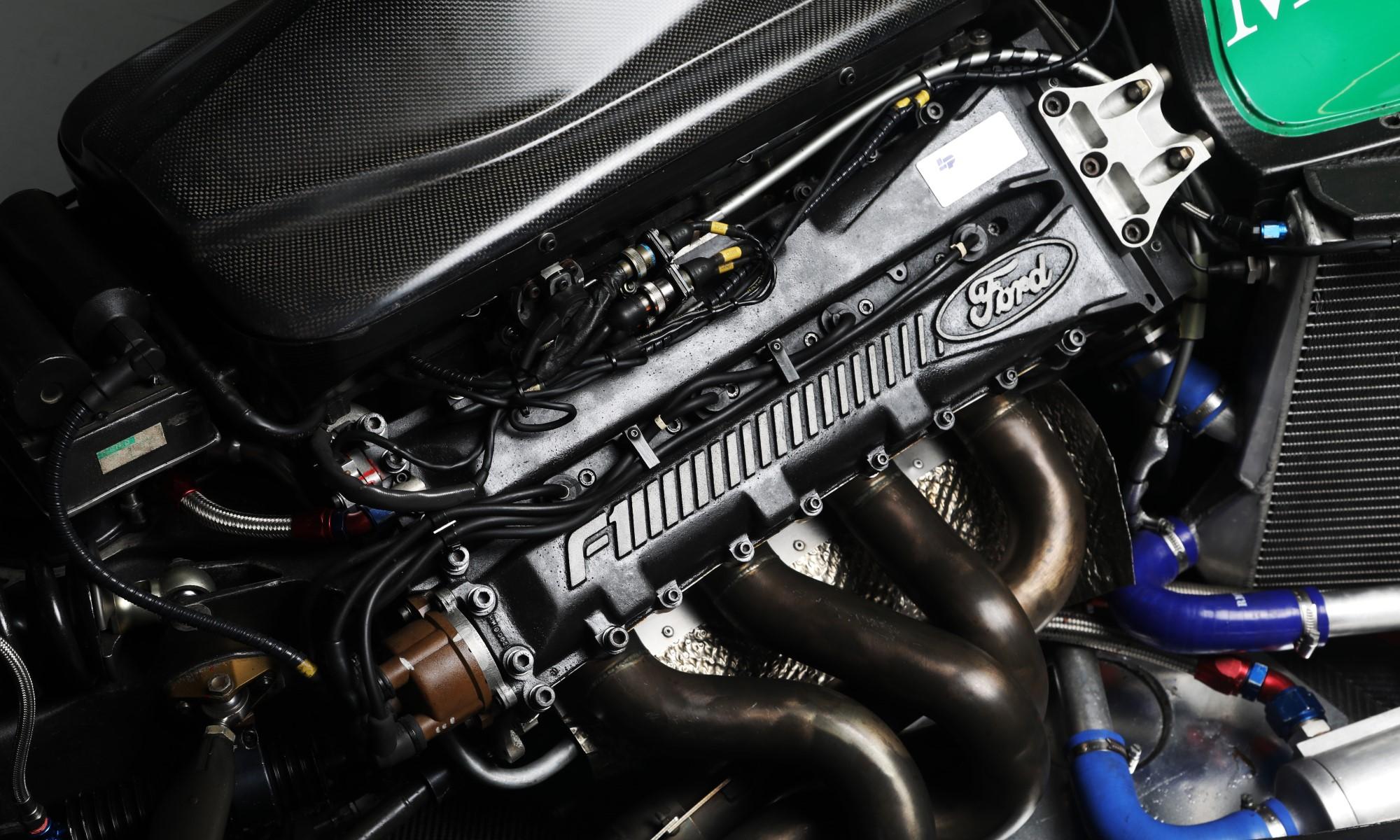 Schumacher Jordan F1 car engine