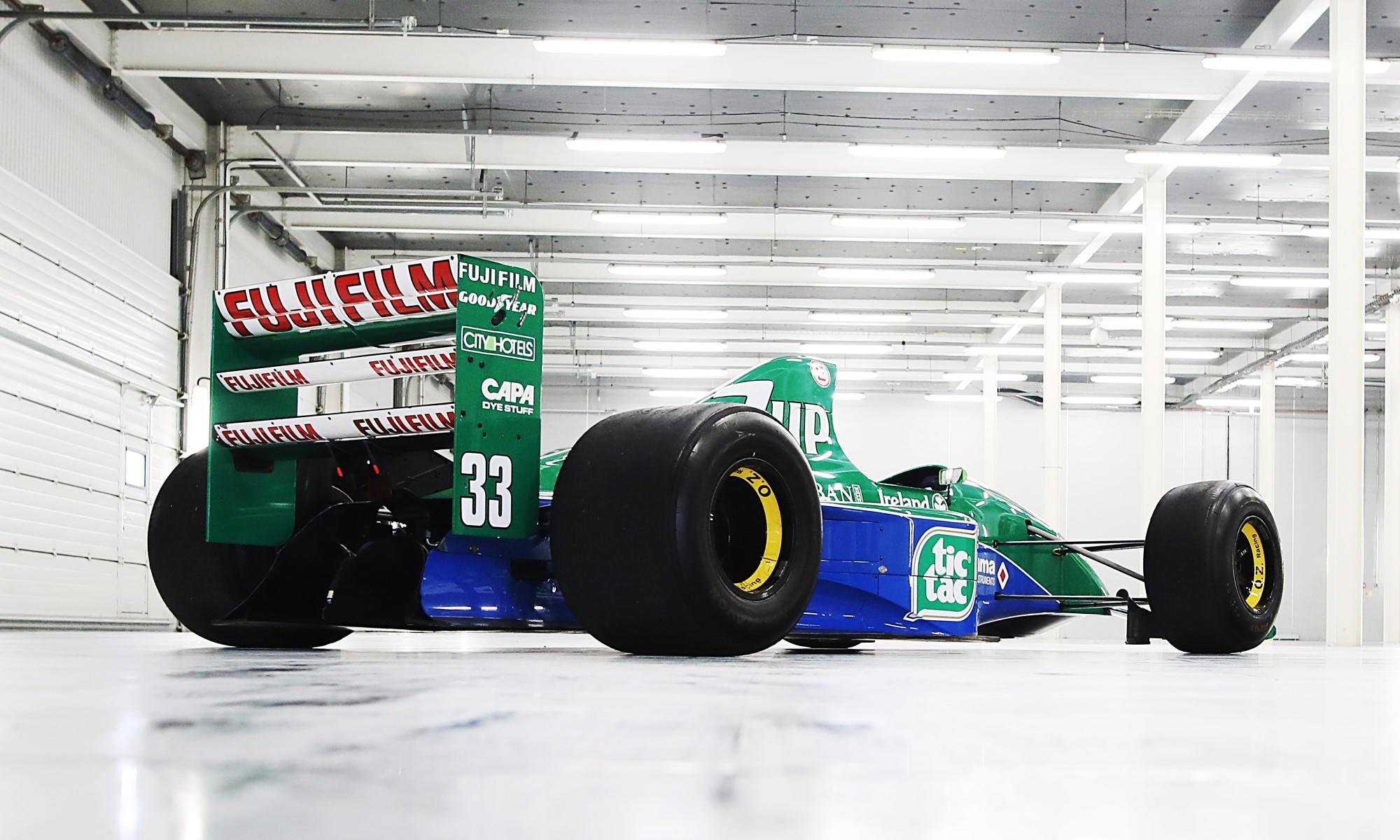 Schumacher Jordan F1 car rear