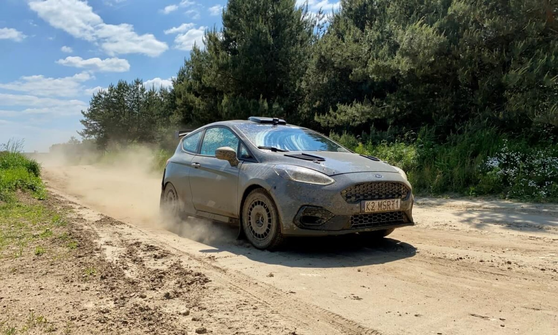 Sobieslaw Zasada testing his Fiesta rally car.