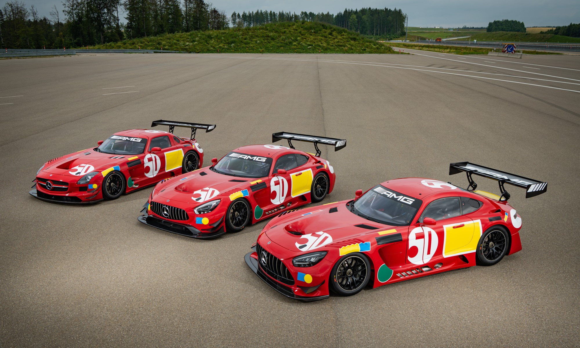 50 Years Legend Of Spa GT3 cars