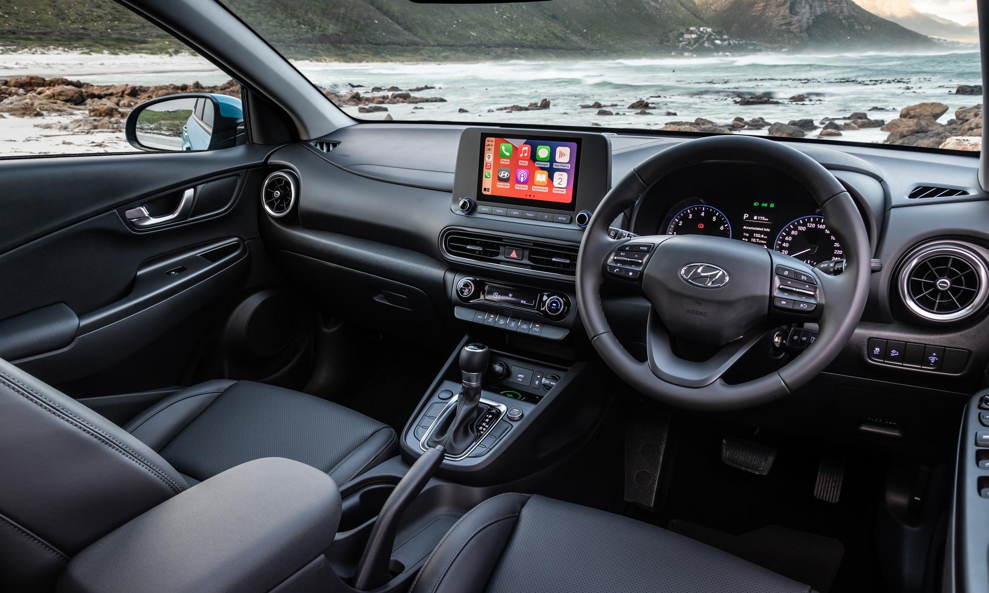Facelifted Hyundai Kona interior
