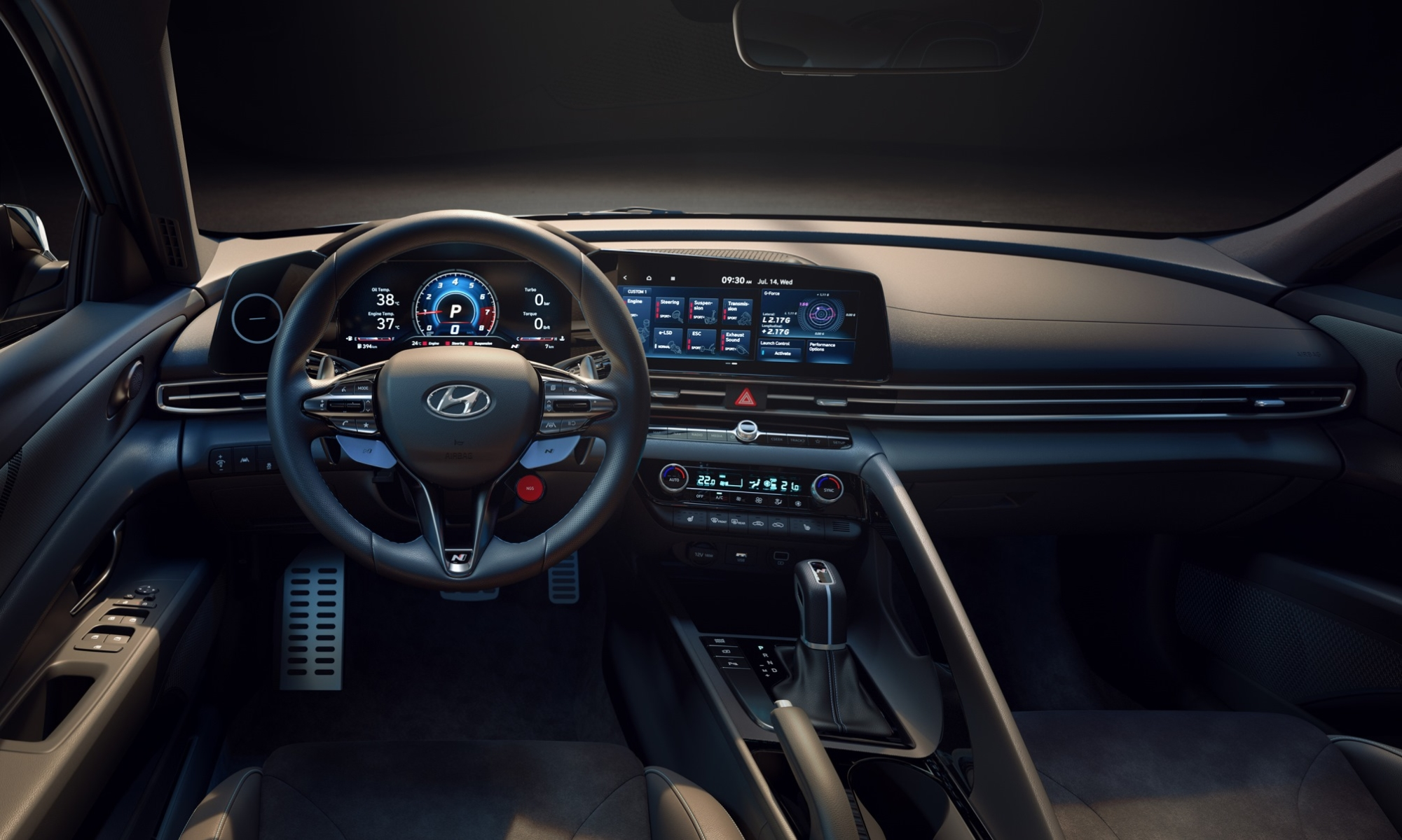 Hyundai Elantra N debuts interior