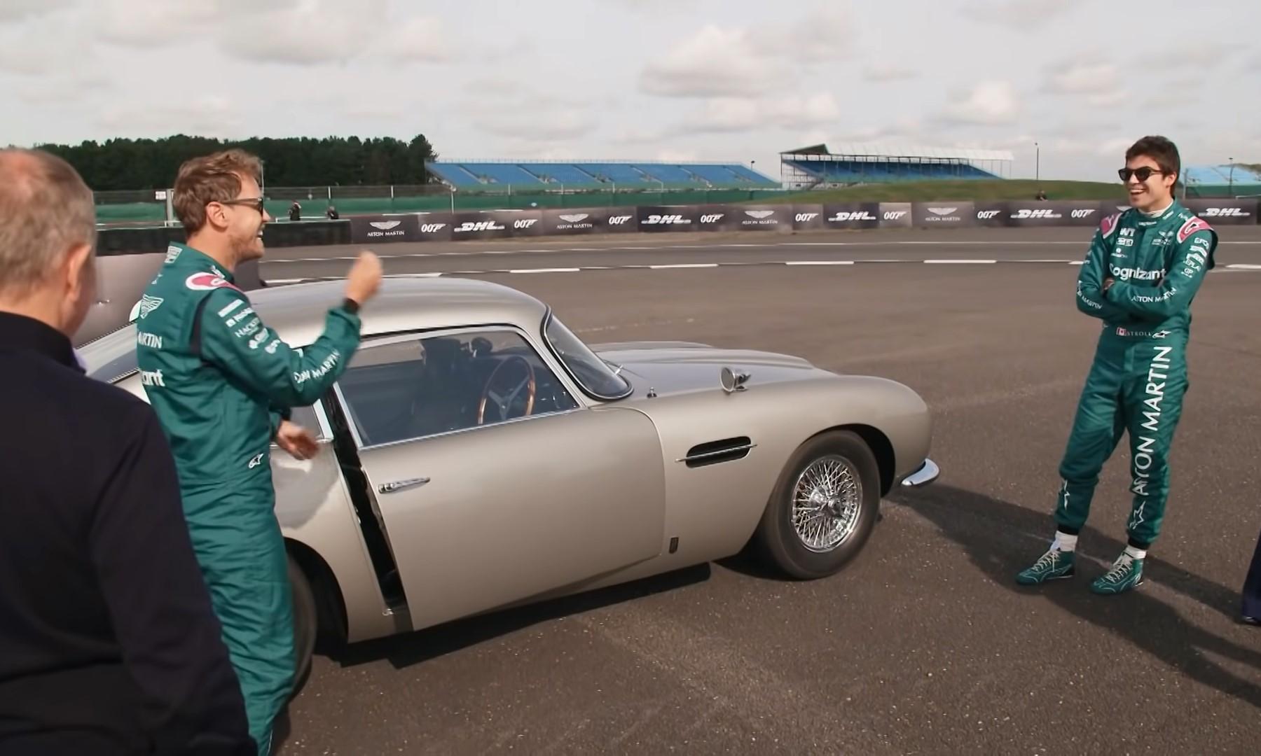 Aston Martin F1 Drivers Channel Their Inner James Bond (2)