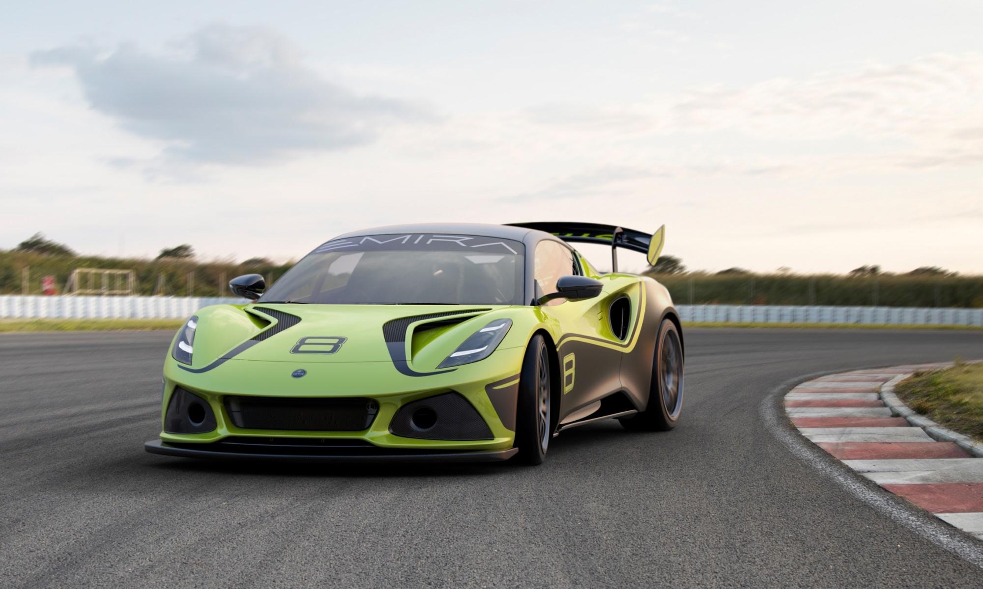 Lotus Emira GT4 front